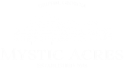 Mystic Acres with Griffin Logo with transparent background White